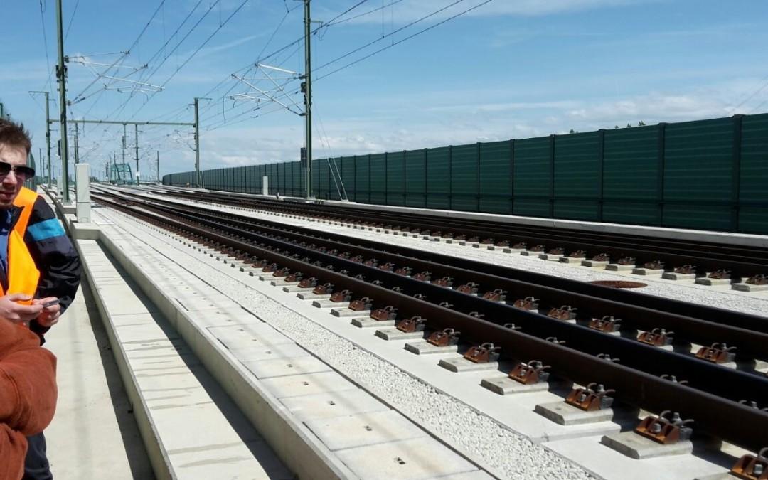 Besichtigung einer Brücken-Baustelle der Deutschen Bahn